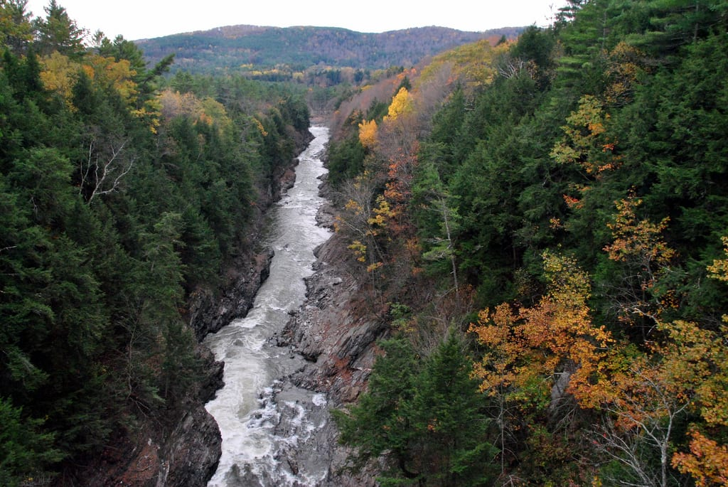 Quechee Gorge aeriel photo
